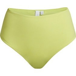 Jonathan Simkhai Women's Cora Solid High-Waist Bikini Bottoms - Citron - Size Medium found on MODAPINS from Saks Fifth Avenue for USD $95.00