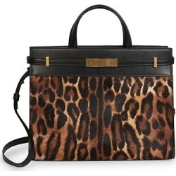 Small Manhattan Leopard-Print Calf Hair & Leather Satchel found on Bargain Bro India from Saks Fifth Avenue AU for $3028.80