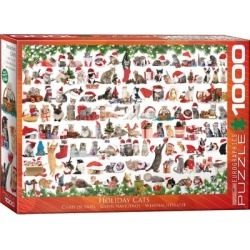 1000 Piece Puzzle (holiday Cats) found on GamingScroll.com from The Bay for $32.00