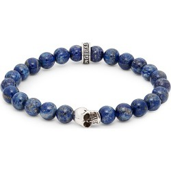 King Baby Studio Men's Lapis Bead Skull Bracelet found on Bargain Bro India from Saks Fifth Avenue OFF 5TH for $85.00