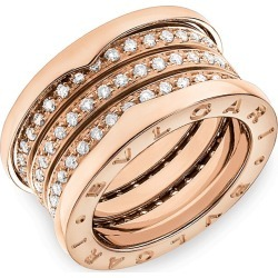 BVLGARI Women's B.zero1 18K Rose Gold & Diamond 4-Band Ring - Rose Gold - Size 6.5 found on Bargain Bro Philippines from Saks Fifth Avenue for $11100.00
