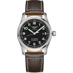 Longines Longines Spirit Stainless Steel & Leather-Strap Watch - Black found on MODAPINS from Saks Fifth Avenue for USD $2250.00