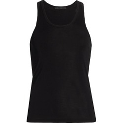 Helmut Lang Women's Silk Ribbed Tank Top - Onyx - Size Medium found on MODAPINS from Saks Fifth Avenue for USD $46.80