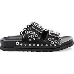 Ash Women's As Universe Grommet Leather Slide Sandals - Black - Size 37 (7) found on MODAPINS from Saks Fifth Avenue for USD $235.00