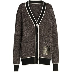 Off-White Women's Lurex Sparkling Cardigan - Silver - Size 42 (6) found on MODAPINS from Saks Fifth Avenue for USD $1014.00