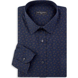 Saks Fifth Avenue Men's Slim-Fit Printed Sport Shirt - Navy - Size Large found on Bargain Bro from Saks Fifth Avenue for USD $63.83