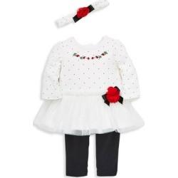 Ensemble 3 pièces - haut, legging et serre-tête pour bébé fille