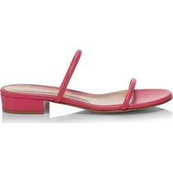 Gianvito Rossi Women's Byblos Leather Mules - Ruby Rose - Size 9 found on MODAPINS from Saks Fifth Avenue for USD $595.00