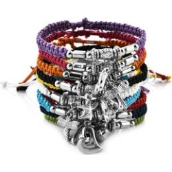 Set of 10 Woven Wax Cord Bracelets with Silvertone Charms Adjustable found on Bargain Bro Philippines from Shop LC for $99.99
