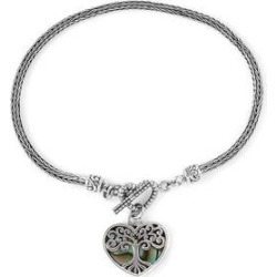 BALI LEGACY Abalone Shell Heart Charm Toggle Clasp Bracelet in Sterling Silver (8.00 In) found on Bargain Bro Philippines from Shop LC for $209.99