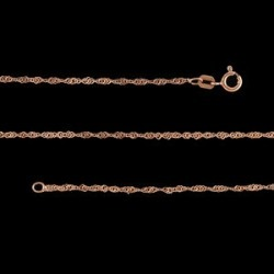 Italian Singapore Chain in 14K RG Over Sterling Silver (18 in) (1.6 g)