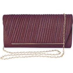 Shimmer Purple Evening Clutch with Detachable Crossbody Strap (9.5x2.5x5) found on Bargain Bro from Shop LC for USD $37.99