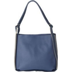 Blue Faux Leather Studded Tote with Standing Studs (15x5.5x13.5) found on Bargain Bro India from Shop LC for $159.99