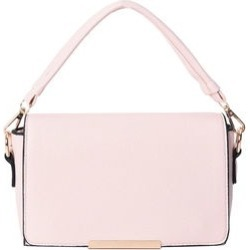 Blush Multi Wear Faux Leather Evening Crossbody Clutch Bag with Detachable Flap and Straps (9x6x2) found on Bargain Bro from Shop LC for USD $98.79