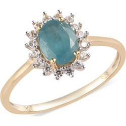 1.65 ctw AA Grandidierite and Zircon Ring in 10K Yellow Gold 1.60 Grams (Size 6) found on Bargain Bro India from Shop LC for $899.99