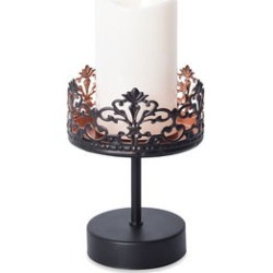 LED Candle on Openwork Pillar Holder (3AA Battery Not Included) (9x4.5) found on Bargain Bro Philippines from Shop LC for $69.99