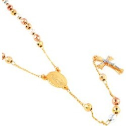 Multi-Tone Rosary Style Necklace (26 in) found on Bargain Bro Philippines from Shop LC for $69.99