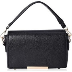 Black Multi Wear Faux Leather Evening Crossbody Clutch Bag with Detachable Flap and Straps (9x6x2) found on Bargain Bro Philippines from Shop LC for $129.99