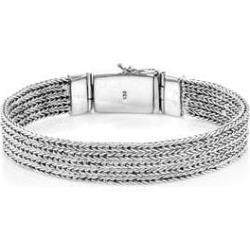 Bali Legacy Sterling Silver Tulang Naga Bracelet (6.50 In) (41.3 g)