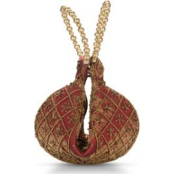 Red Beaded Elephant Embroidery Beaded Potli Fortune Cookie Bag (6.5) found on Bargain Bro from Shop LC for USD $30.39