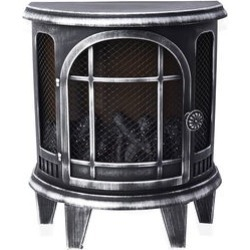 Antique Silver LED Plastic Fireplace Lantern (Cx3 Batteries Not Included) (10.8x5.7x12.4) found on Bargain Bro Philippines from Shop LC for $119.99