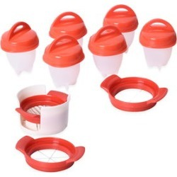 6pc Nonstick Silicone Egg Pods with 3 Slicers found on Bargain Bro India from Shop LC for $29.99