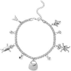 Princess Bell Charm Anklet in Stainless Steel found on Bargain Bro Philippines from Shop LC for $49.99