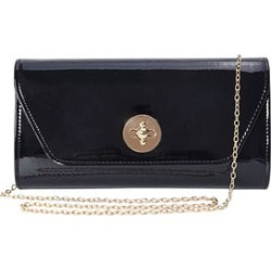 Black Faux Patent Leather Crossbody Clutch Bag (10x2x5.5) found on Bargain Bro Philippines from Shop LC for $49.99