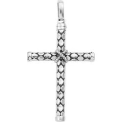 Artisan Crafted Sterling Silver Cross Pendant without Chain found on Bargain Bro Philippines from Shop LC for $119.99
