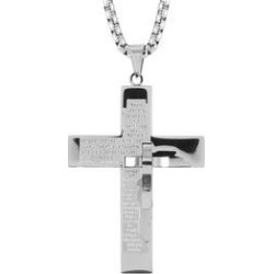 Stainless Steel Cross Pendant Necklace (30 in) found on Bargain Bro Philippines from Shop LC for $59.99