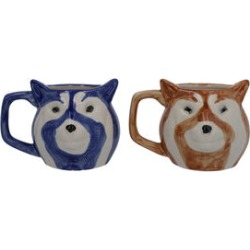 Set of 2 Blue and Brown Ceramic Fox Coffee Mug found on Bargain Bro India from Shop LC for $59.99