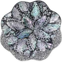 Handcrafted Decorative Flower Shell Tray (7 in) found on Bargain Bro Philippines from Shop LC for $324.99