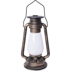 Black and Golden Brushed Plastic LED Lantern (7.5x5.5x11.75) (3xAAA Batteries Not Included) found on Bargain Bro Philippines from Shop LC for $59.99