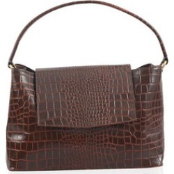 Beverly by Lene Brown Leather Satchel Bag (14.5x7x9.5 in) found on Bargain Bro India from Shop LC for $399.99