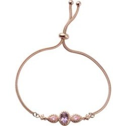 Karis 1.35 ctw Rose De France Amethyst and Simulated Pink Diamond Bolo Bracelet in ION Plated 18K Rose Gold Brass found on Bargain Bro Philippines from Shop LC for $139.99