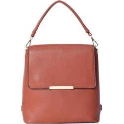 Cognac Multi Wear Faux Leather Backpack Evening Crossbody Bag with Detachable Flap and Straps (10x10x3.5) found on Bargain Bro from Shop LC for USD $68.39