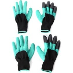 Set of 2 -70% Latex and 30% Polyester Puncture Resistant Claws Garden Gloves (One Size Fits Most) found on Bargain Bro India from Shop LC for $29.99