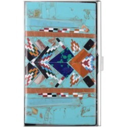 SANTA FE Style Multi Gemstone Snap Closure Card Holder (28cts) found on Bargain Bro from Shop LC for USD $129.95