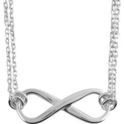 Sterling Silver Infinity Necklace (16 in) (6.6 g)