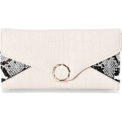 Cream Snake & Crocodile Pattern Tri-fold Wallet with Snap Closure (7.75x1x4) found on Bargain Bro from Shop LC for USD $30.39