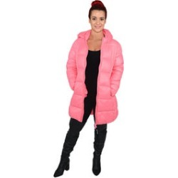 JUICY COUTURE Pink Water Repellent Puffer Jacket with Transport Pouch (XL, Polyester)