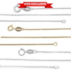 Italian Set of 3 Box, Bead, and Curb Chains in 14K YG Over and Sterling Silver (18 in) (3.7 g)