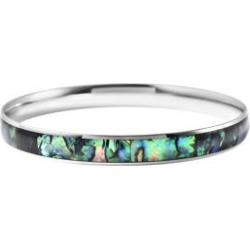 Abalone Shell Bangle Bracelet in Stainless Steel (8.50 in) found on Bargain Bro Philippines from Shop LC for $59.99