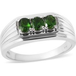 Magnetic Jewelry Russian Diopside Men's Ring in Sterling Silver (Size 13.0) 1.25 ctw