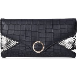 Black Snake & Crocodile Pattern Tri-fold Wallet with Snap Closure (7.75x1x4) found on Bargain Bro from Shop LC for USD $30.39