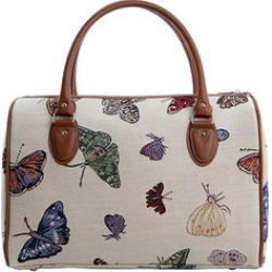 Signare Tan, Multi Color Butterfly Tapestry Travel Bag with Brown Strap (Polyester, 15.5x11x8) found on Bargain Bro India from Shop LC for $129.99