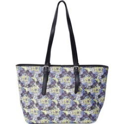 Value Buy Green, Blue, Multi Color Floral Pattern Faux Leather Tote Bag with Adjustable Straps (17x11x5) found on Bargain Bro from Shop LC for USD $75.99