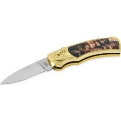 Closeout Deal Wolf Collector Pocket Knife with Black Safe Keep Wolf Box (5x3.25x1.25 in)