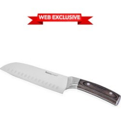Homesmart Santoku Chef's Knife in Stainless Steel with Brown Wooden Handle found on Bargain Bro from Shop LC for USD $53.19