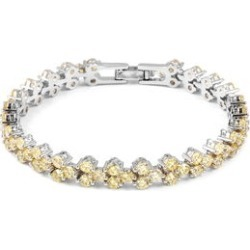 Simulated Yellow Diamond Bracelet in Silvertone (7.25 In) found on Bargain Bro Philippines from Shop LC for $99.99
